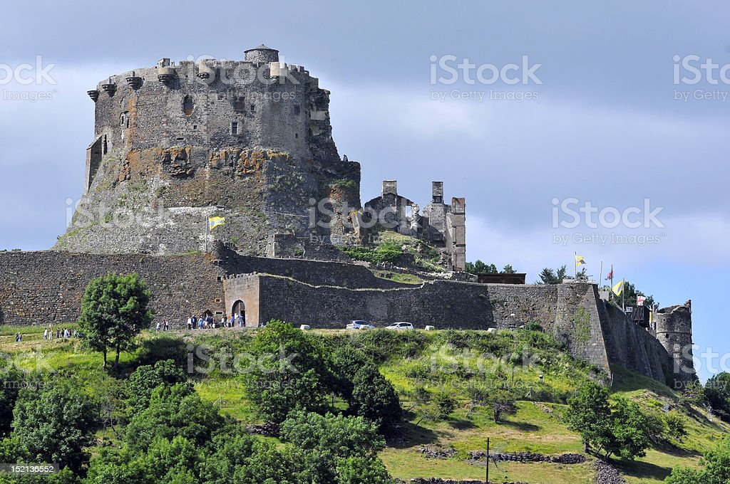Castle of Murol in France stock photo