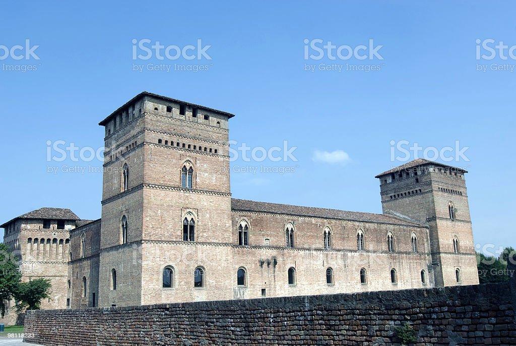 Castle of Pandino (Lombardy, Italy) royalty-free stock photo
