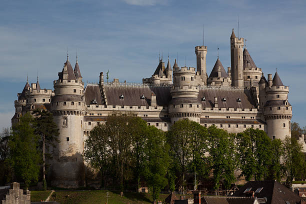 Chateau de Pierrefonds Big castle in Pierrefonds. A town in the north of France, near Paris picardy stock pictures, royalty-free photos & images