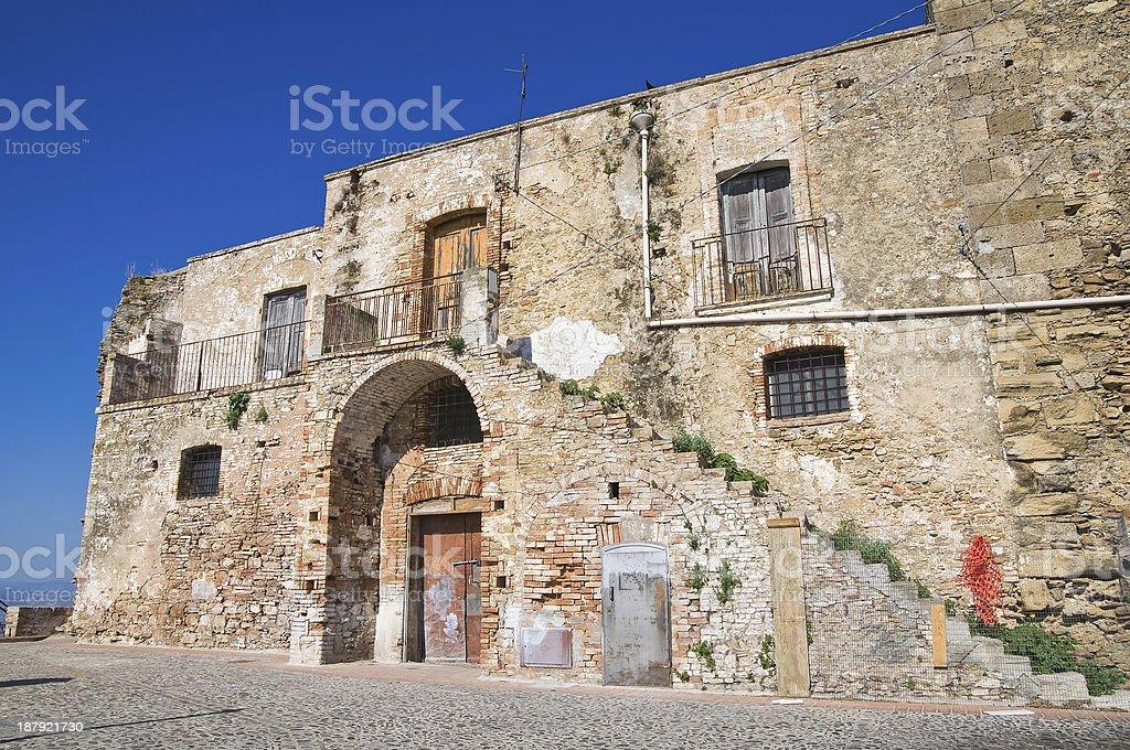 Castle of Pisticci. Basilicata. Italy. royalty-free stock photo