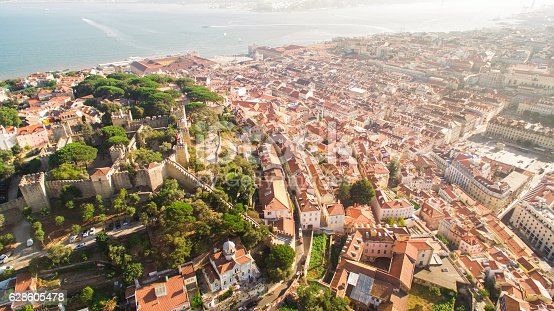 istock Castle of Saint George and Tagus river Lisbon view from 628605478