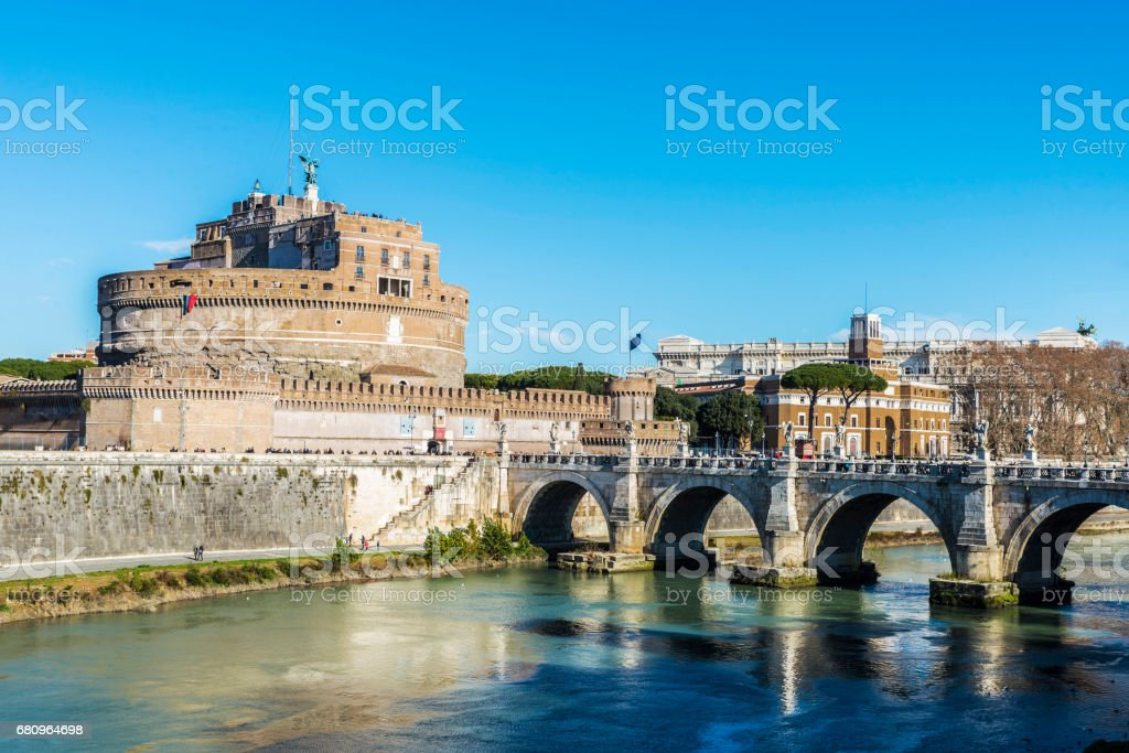 Castle of Sant Angelo in Rome, Italy royalty-free stock photo