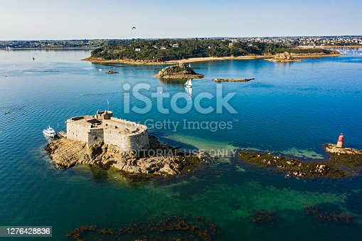 istock Castle of Taureau in Bretagne France 1276428836