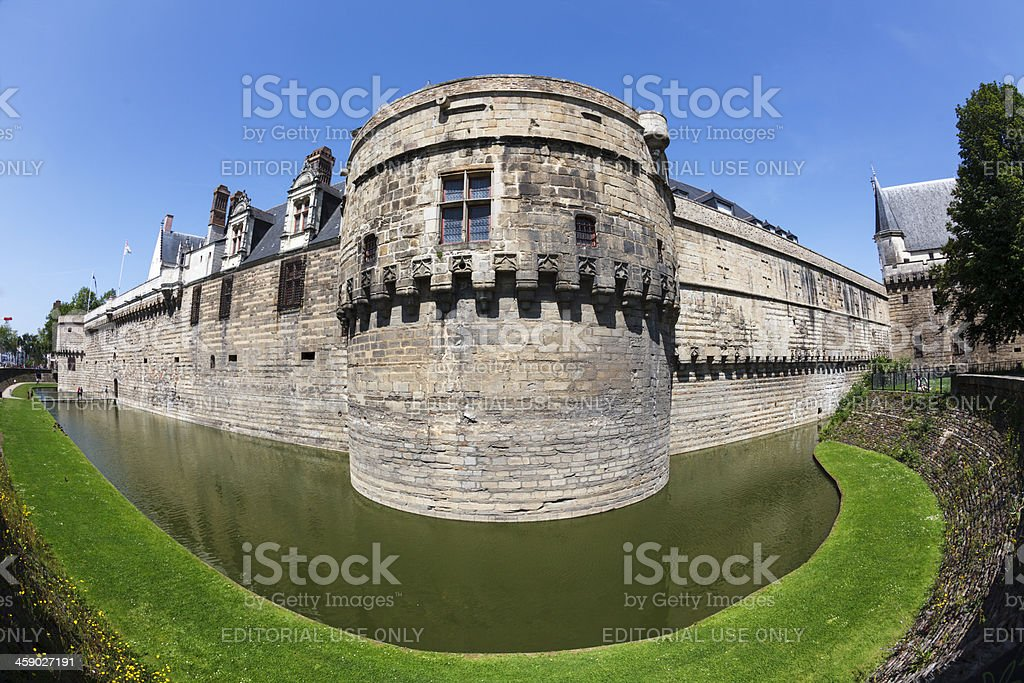 Castle of the Brittany Dukes royalty-free stock photo