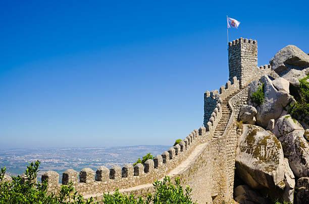 ムーアズの城でシントラ - ムーア様式 ストックフォトと画像