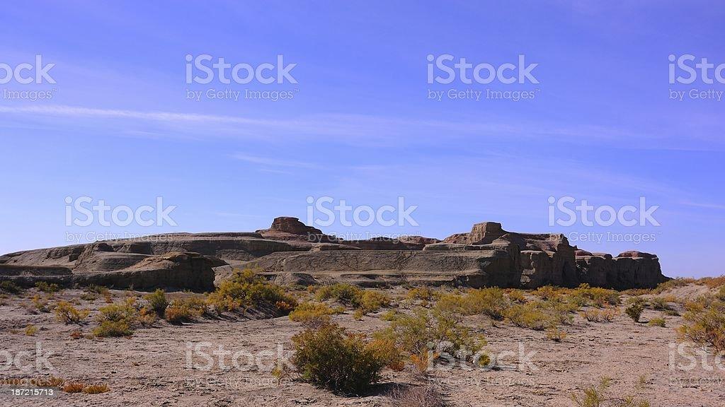 'Castle' of the wind-erosion landform royalty-free stock photo