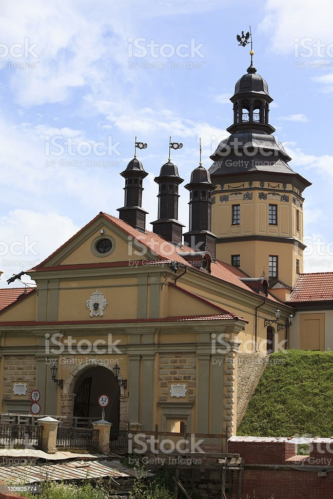 castle of the XVII century in Nesvizh, Belarus royalty-free stock photo