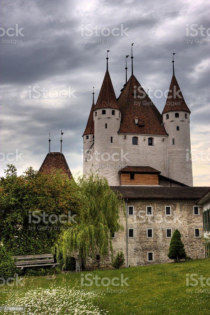 Castle of Thun city, Switzerland royalty-free stock photo