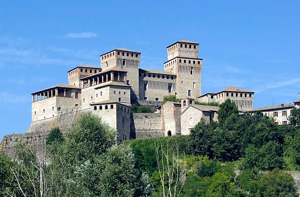 Castle of Torrechiara (Parma, Emilia-Romagna, Italy) stock photo
