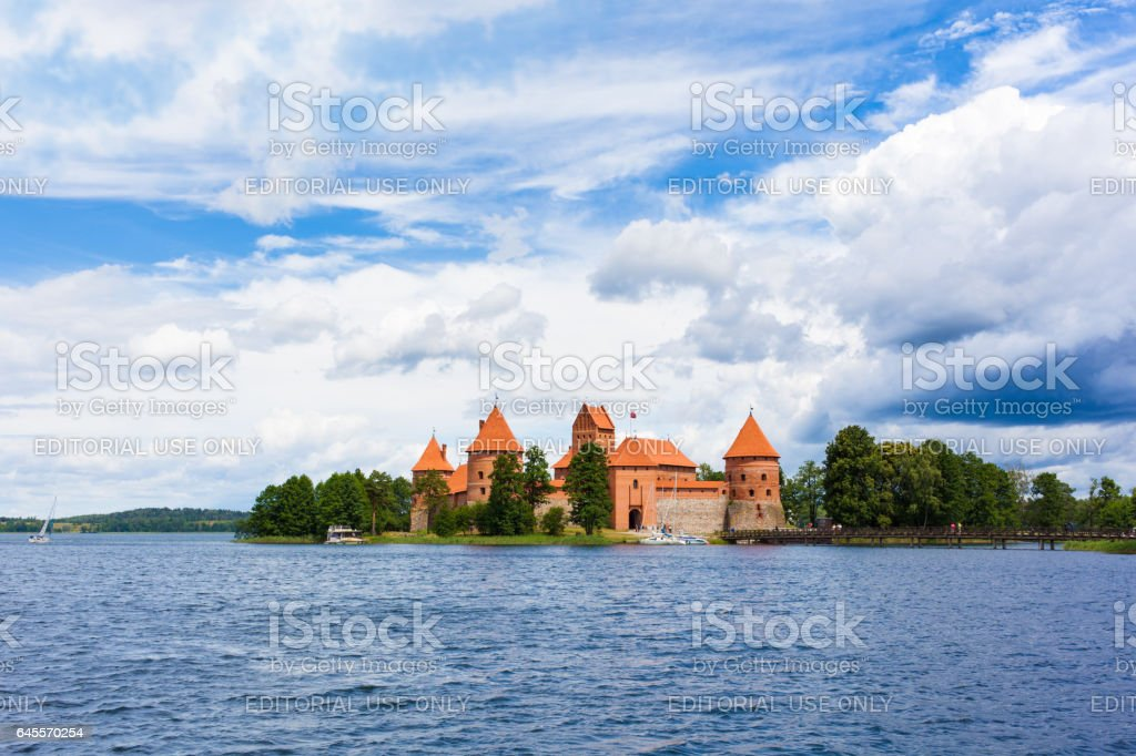 Castle of Trakai, Lithuania stock photo
