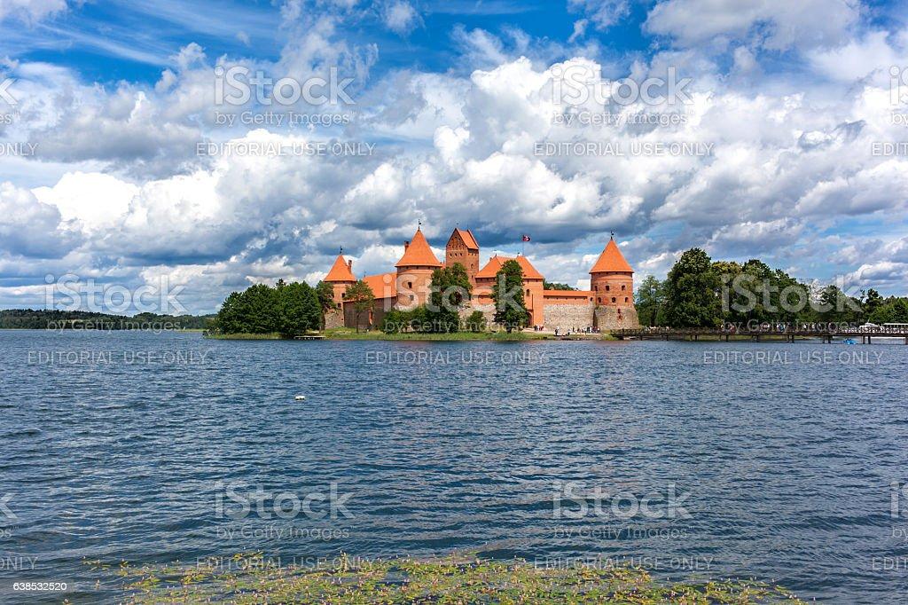 Castle of Trakai stock photo