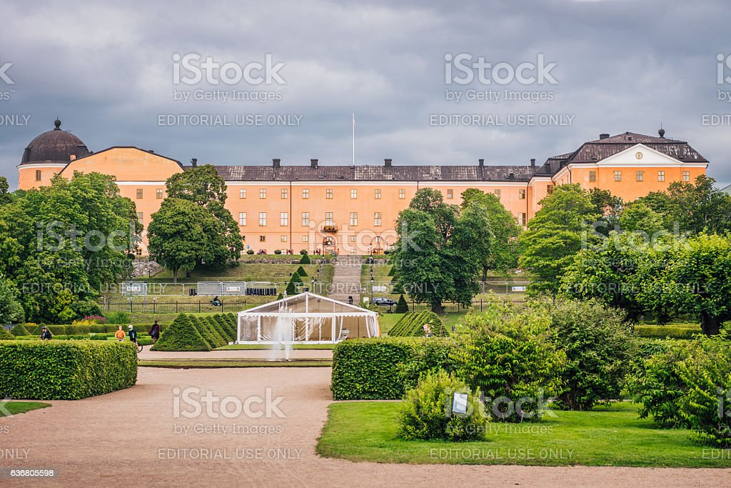Castle of Uppsala stock photo