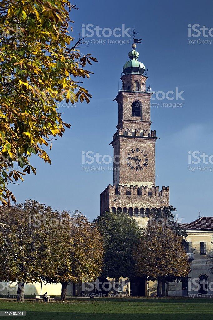 Castle of Vigevano royalty-free stock photo