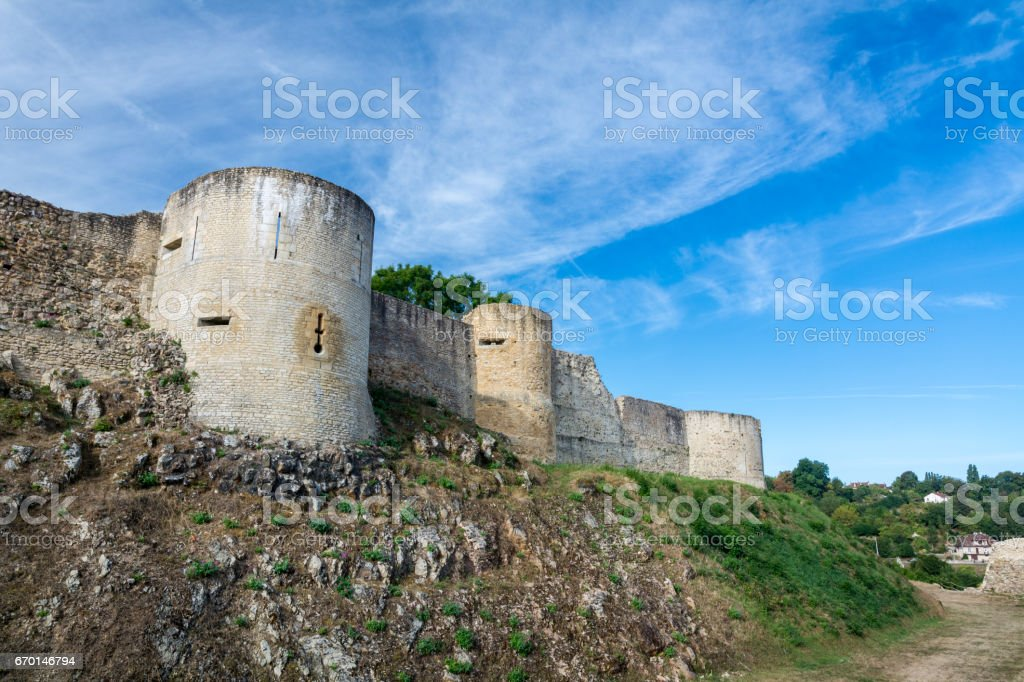 Castle of William the Conqueror, Castle of Falaise stock photo