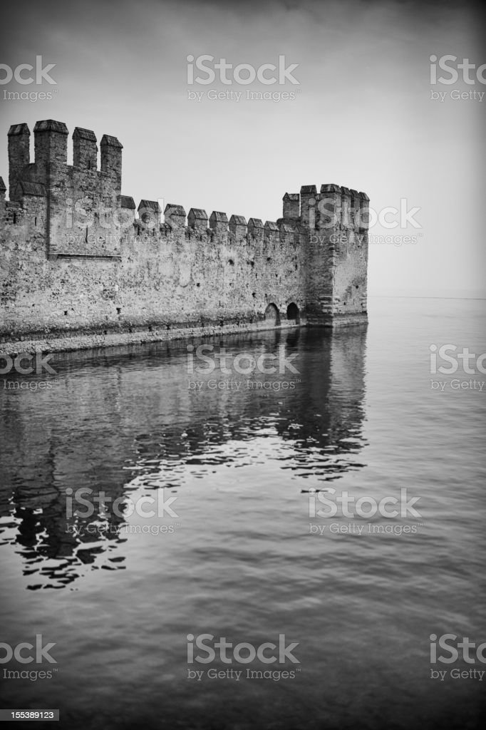 Castle on Lake royalty-free stock photo
