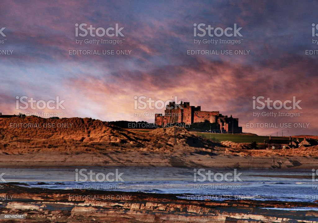 Castle on the beach. stock photo