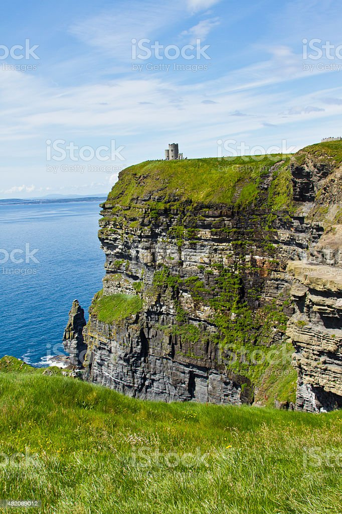 Castle on the cliff stock photo