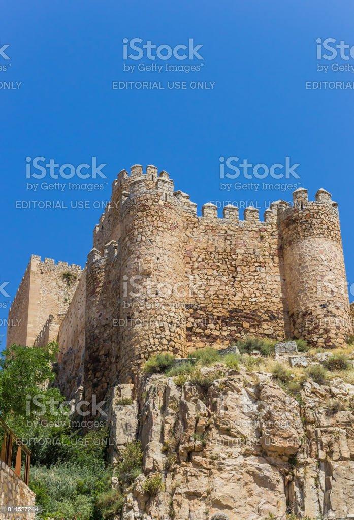 Château sur la colline au-dessus de Almansa, Espagne - Photo