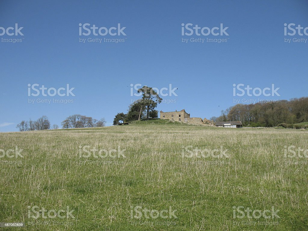 Castle on the Wolds stock photo