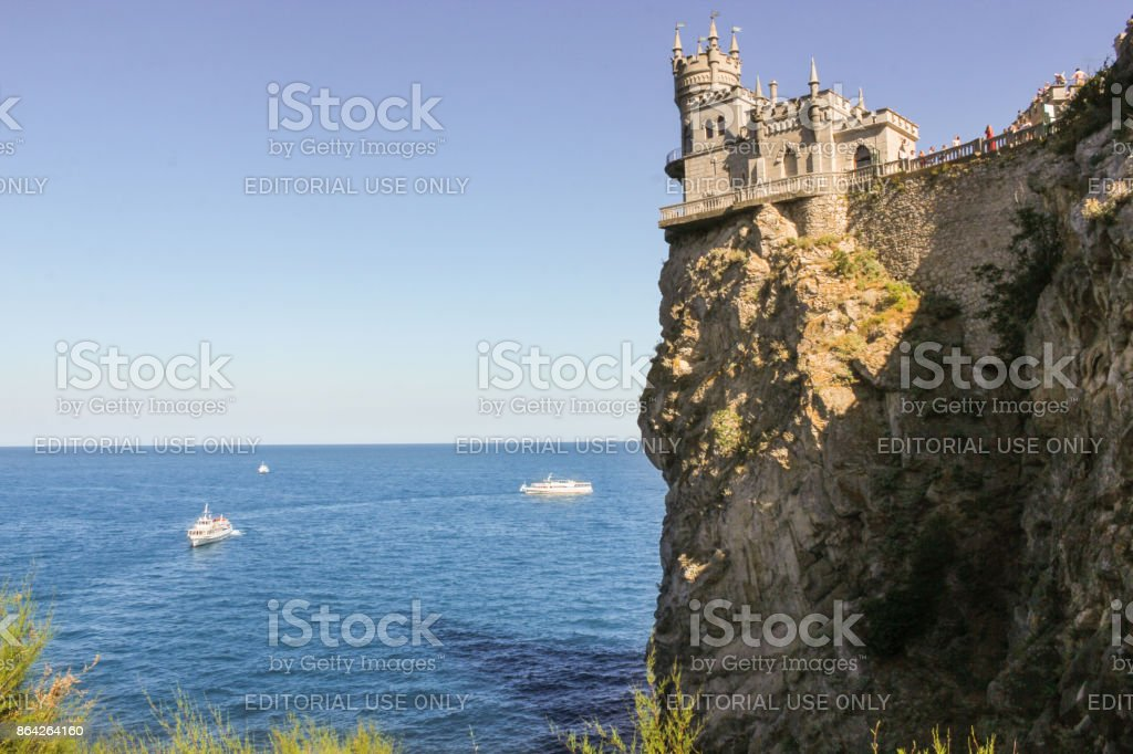 Castle over the sea. royalty-free stock photo