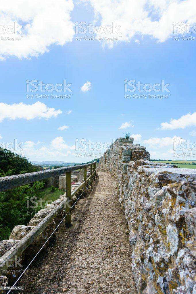 Castle panorama stock photo
