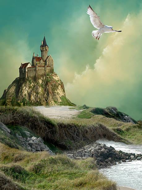 castle - meerjungfrau wellen stock-fotos und bilder