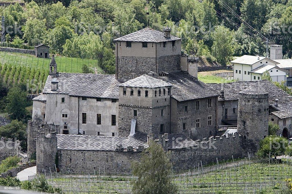 Castle (Aosta valley, Italy) stock photo