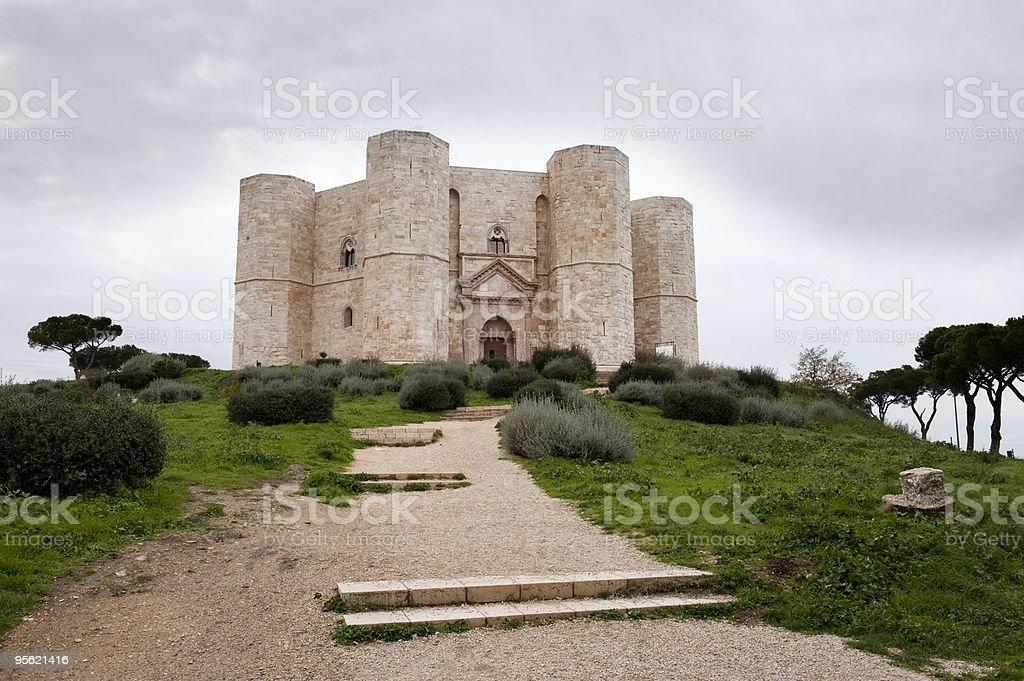 Castle (Castel del Monte, la Puglia e nell'Italia meridionale - foto stock