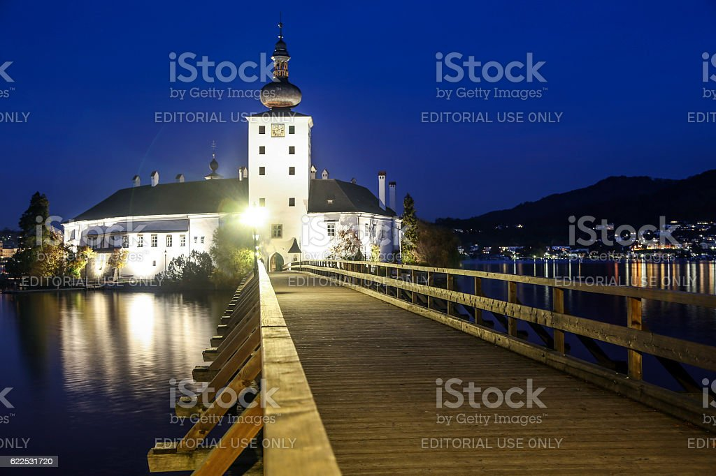 Schloss Ort at night stock photo