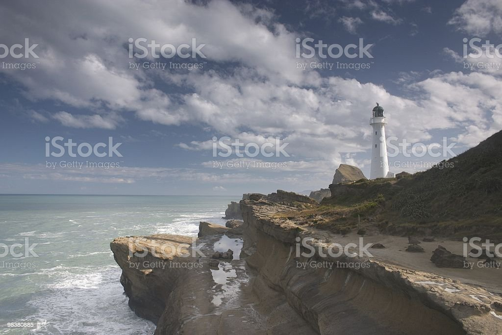 Castle point lighthouse royalty-free stock photo