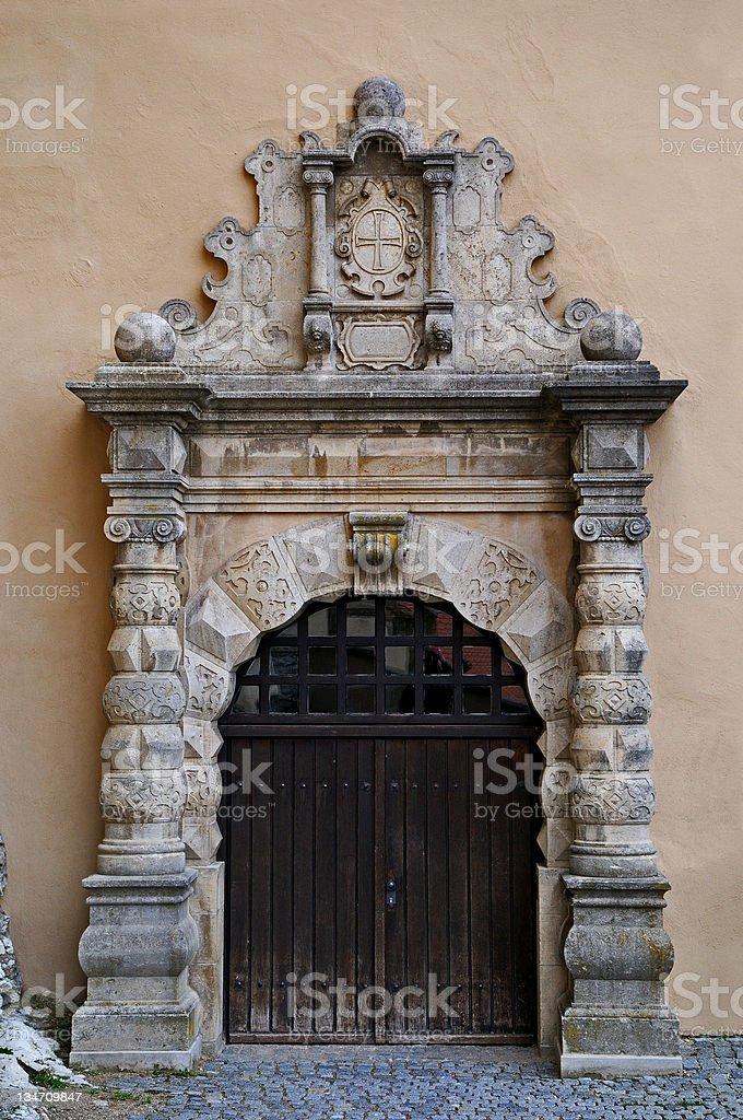 Castle portal stock photo
