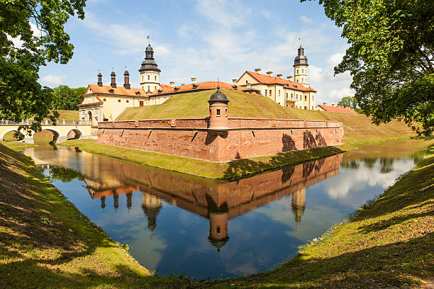 Castle Radziwill Family at Nesvizh, Belarus stock photo