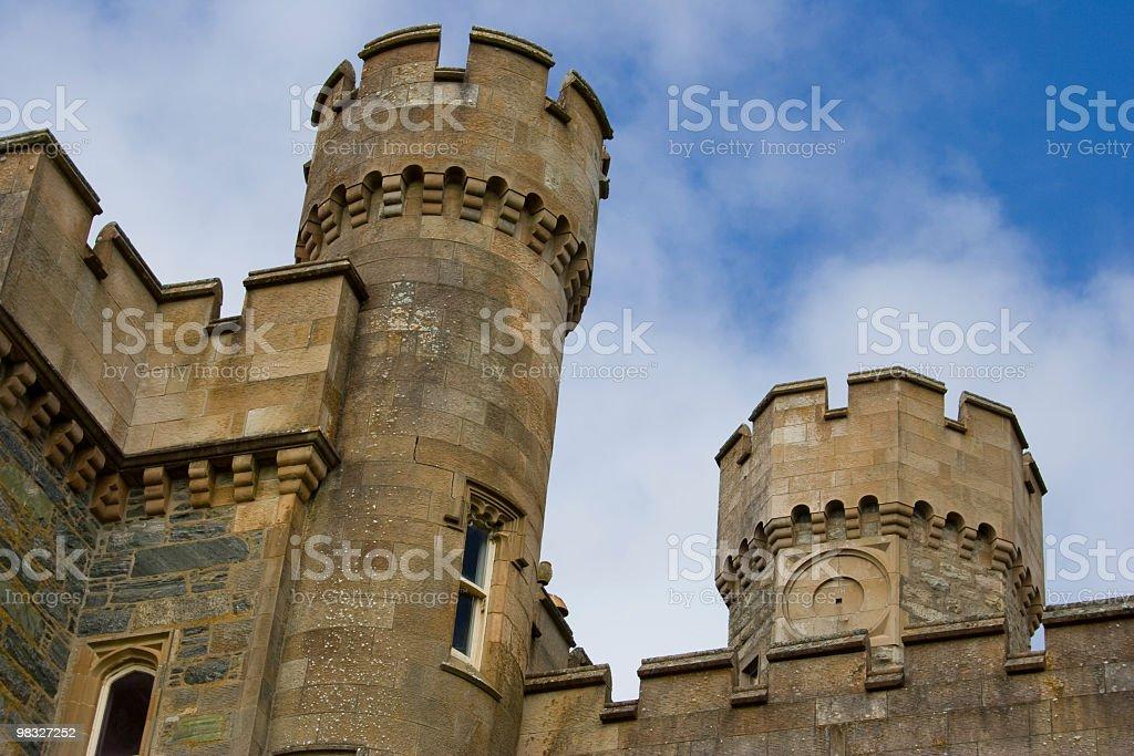 Castle scalinate e torrette foto stock royalty-free