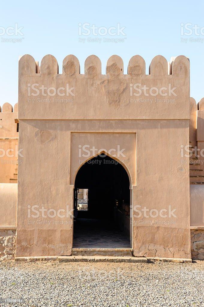 Castle Ras Al Hadd arch royalty-free stock photo