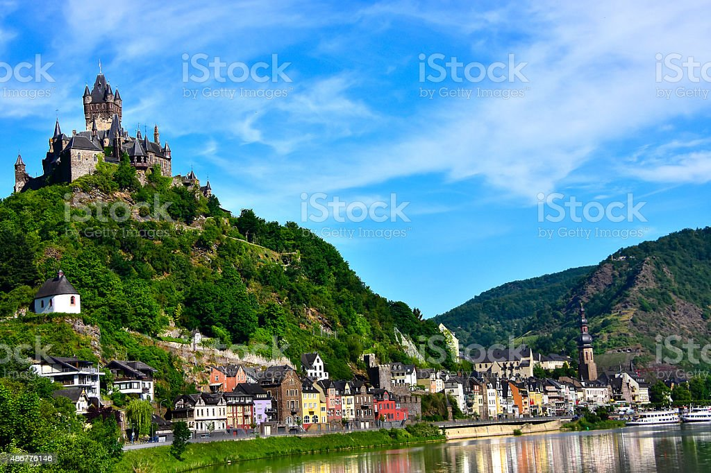 Castle Reichsburg stock photo
