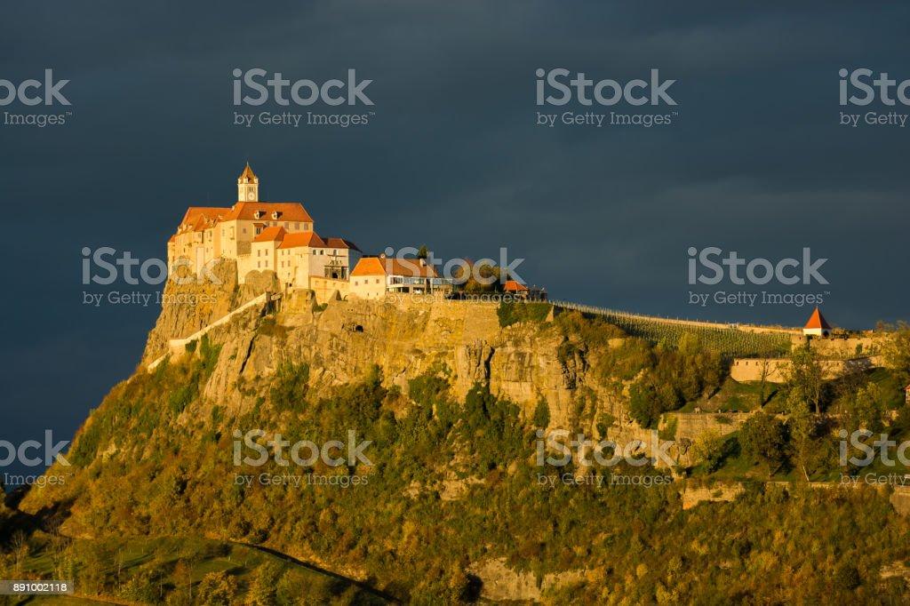 Castle Riegersburg in Austria at Sunset stock photo