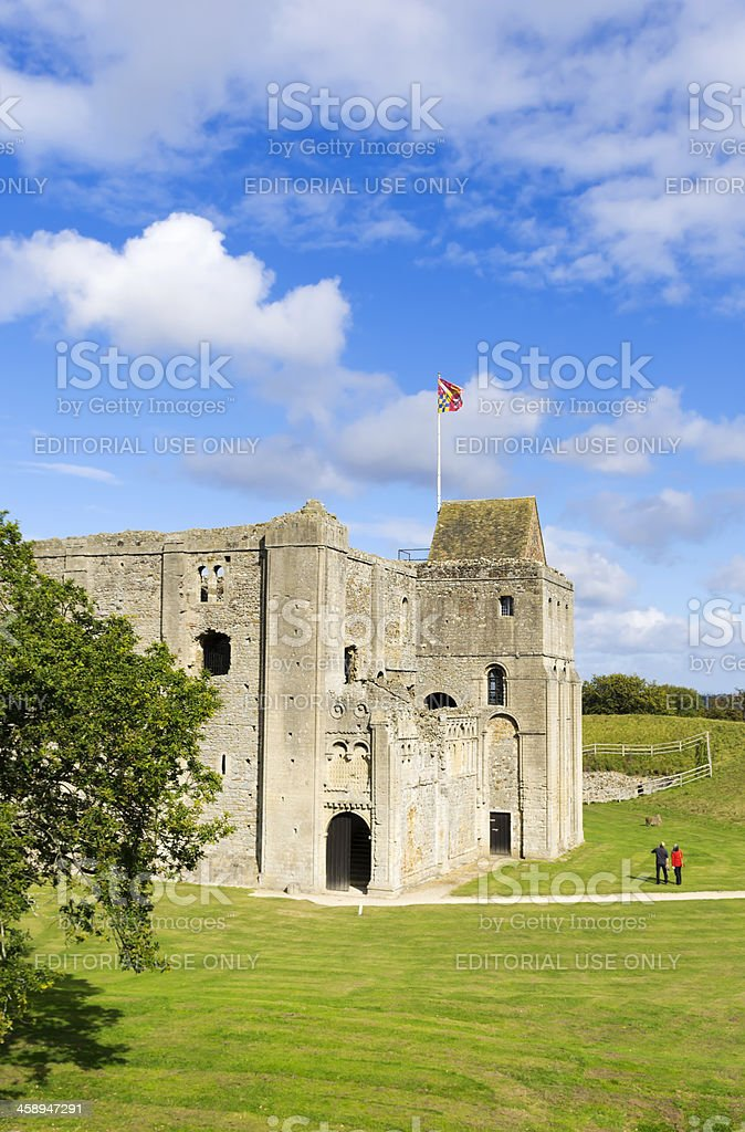 Castle Rising ruins, Norfolk royalty-free stock photo