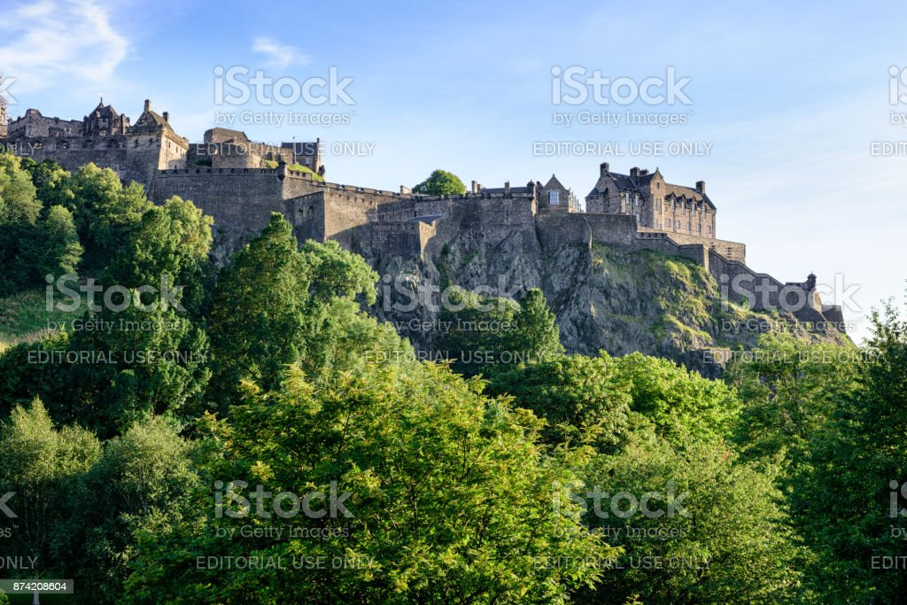 Castle Rock, Edinburgh, Scotland stock photo