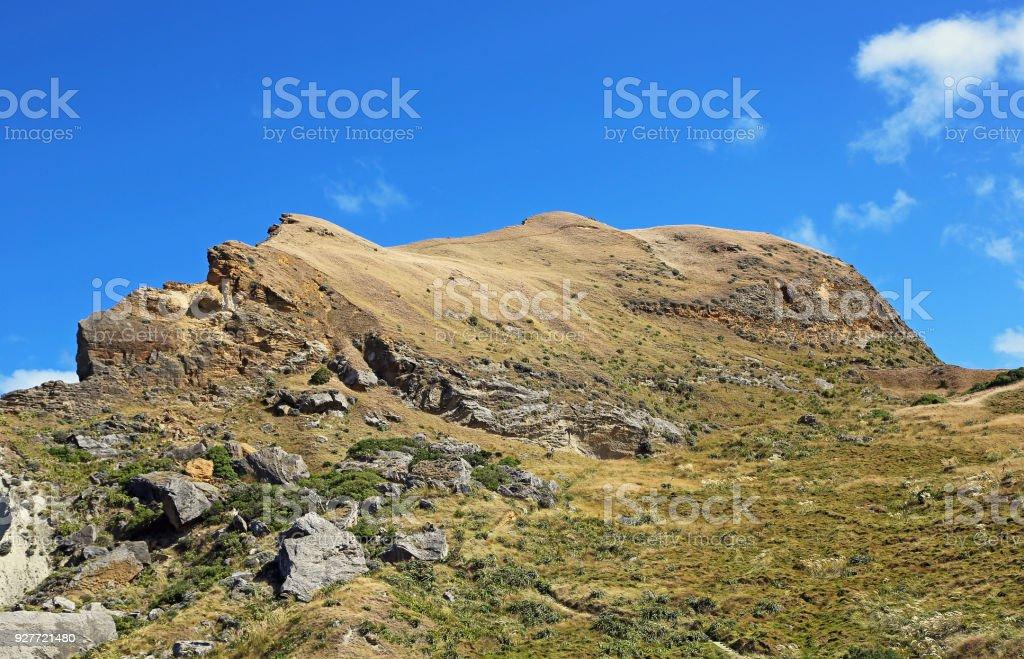 Castle Rock summit stock photo