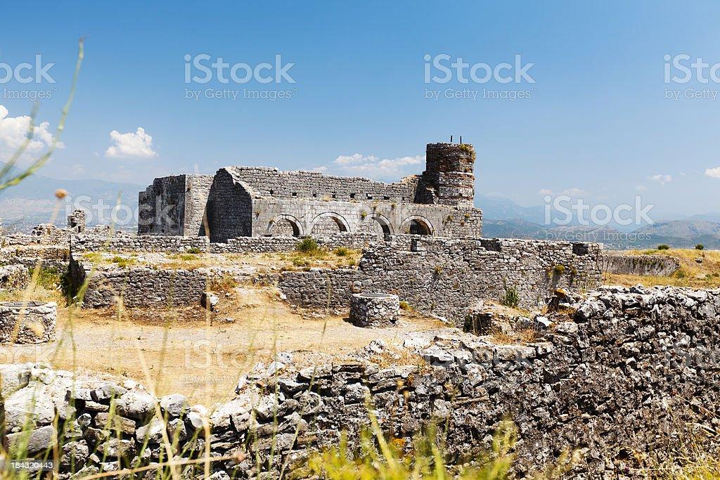 Castle Rozafa, Albania stock photo