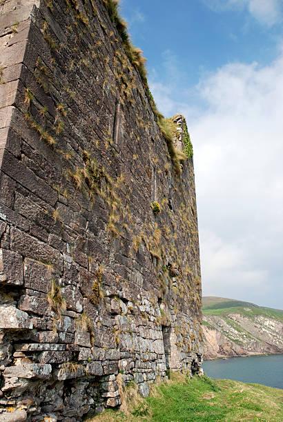 Castle Ruin in Ireland stock photo