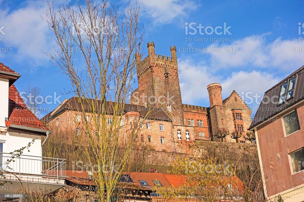 castle ruin named Vorderburg stock photo