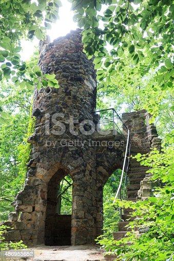 Castle ruin Schomberg in Bad Schandau, Saxon Switzerland