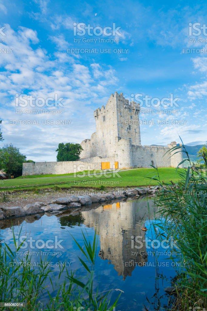 castle ruins in Ireland stock photo