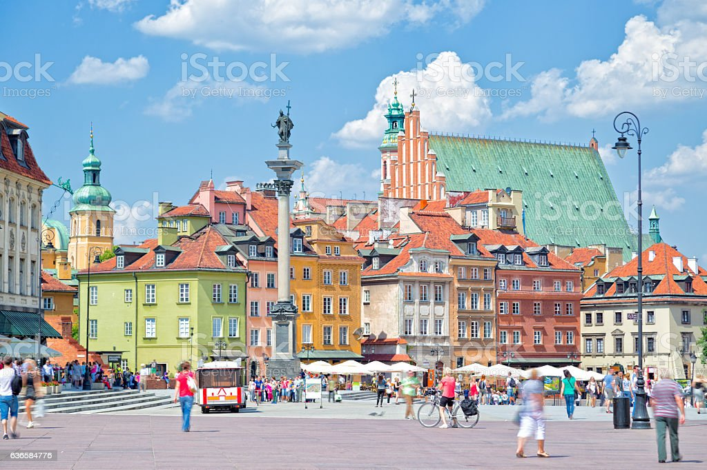 Castle Square in Warsaw stock photo