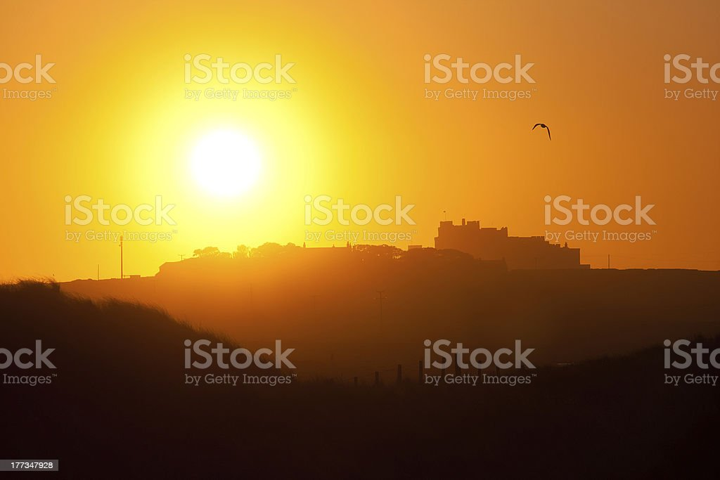 Castle Sunset royalty-free stock photo