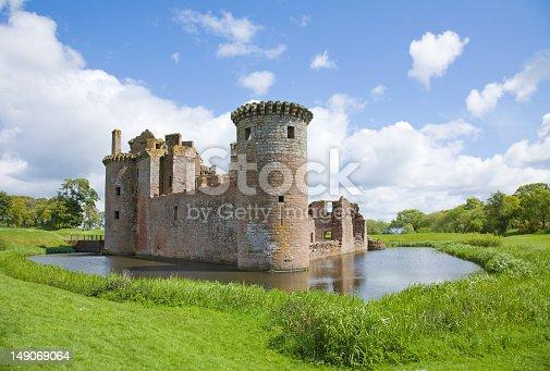 Moated Caerlaverock Castle, Scotland