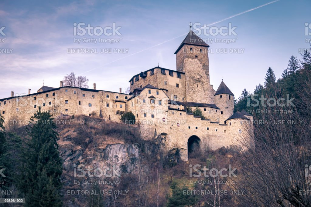 Castle Taufers in Campo Tures, Italy. stock photo