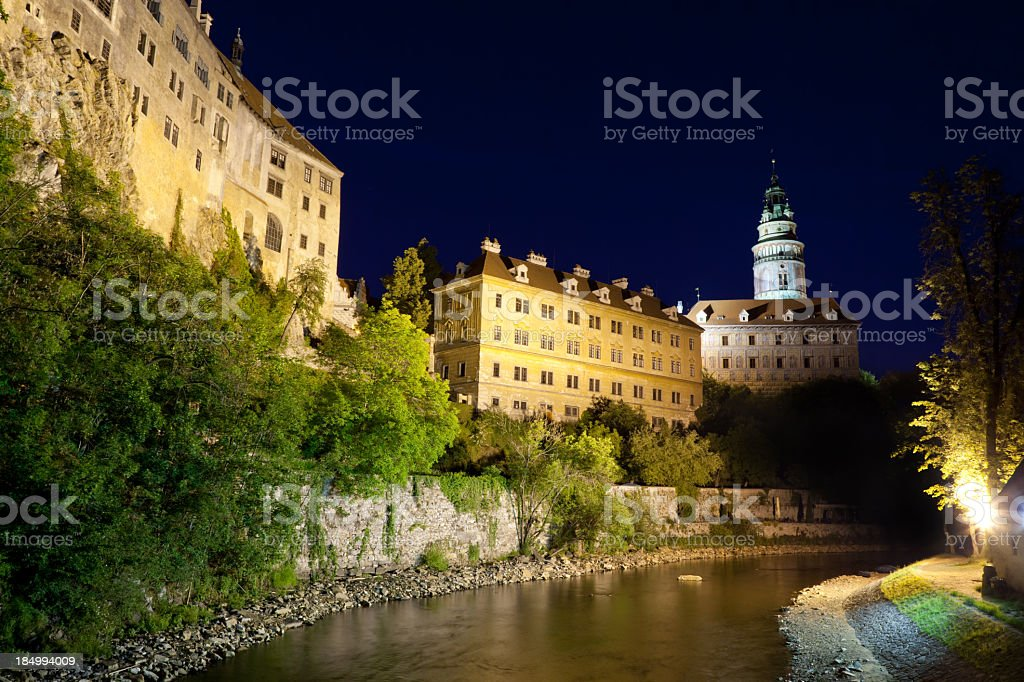 Castle Tower Cesky Krumlov stock photo