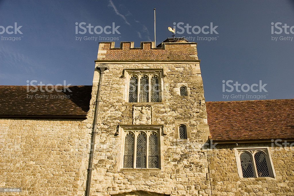 Castle tower stock photo